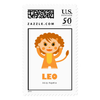 Zodiac Leo for Kids Postage