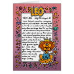 Zodiac - Leo Fun Facts Greeting Card
