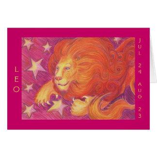 Zodiac Leo 'Happy Birthday' greetings card