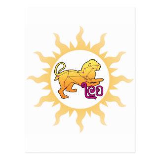 Zodiac Leo Sun Postcard