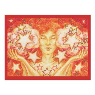 Zodiac Libra postcard