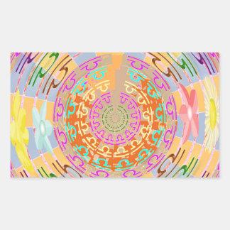 ZODIAC Libra Shining Stars Rectangular Sticker