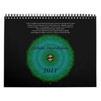Zodiac Mandalas Calendar  2011