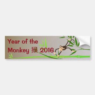 Zodiac Monkey bumper sticker