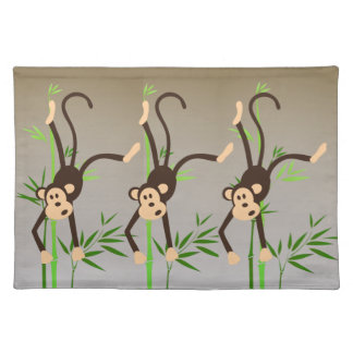 Zodiac Monkey cloth placemat