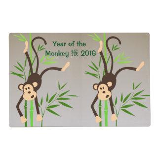 Zodiac Monkey laminated placemat