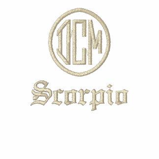 Zodiac Monogram Initials Embroidered Ladies Tee