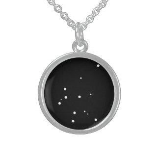 Zodiac Necklace: Aquarius Sterling Silver Necklace