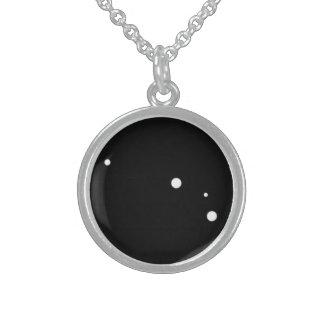 Zodiac Necklace: Aries Round Pendant Necklace