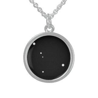 Zodiac Necklace: Cancer Round Pendant Necklace