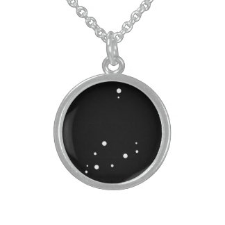 Zodiac Necklace: Capricorn Round Pendant Necklace