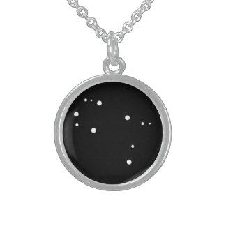 Zodiac Necklace: Gemini Round Pendant Necklace