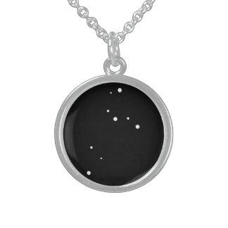 Zodiac Necklace: Leo Round Pendant Necklace