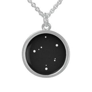 Zodiac Necklace: Libra Round Pendant Necklace