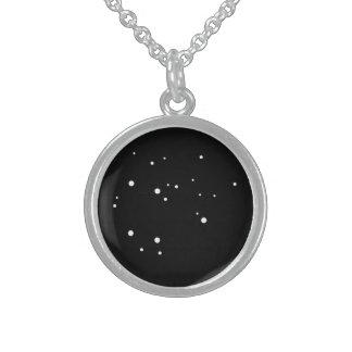 Zodiac Necklace:Sagittarius Round Pendant Necklace