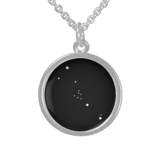 Zodiac Necklace: Taurus Round Pendant Necklace