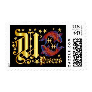 Zodiac-Pisces-Font-Design-1-U Postage