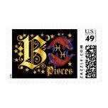 Zodiac-Pisces-Font-Design-2-B Franqueo