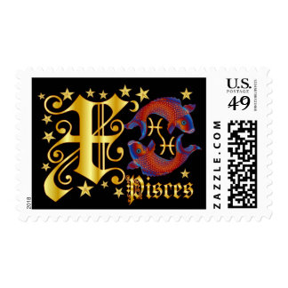 Zodiac-Pisces-Font-Design-2-X Postage Stamp