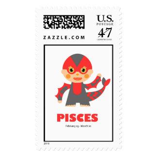 Zodiac Pisces for Kids Postage