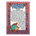 Zodiac - Pisces Fun Facts Greeting Card