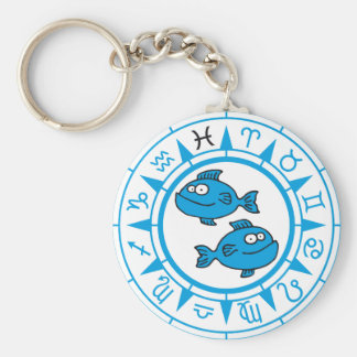 zodiac pisces keychain