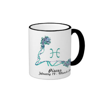 Zodiac-Pisces Ringer Coffee Mug