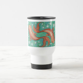 Zodiac Pisces travel/commuter mug