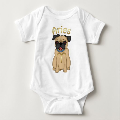Zodiac Pug Aries.png T Shirts