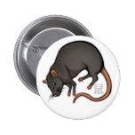 Zodiac Rat Badge Pin
