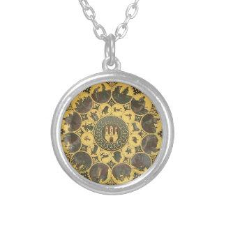 Zodiac Round Pendant Necklace