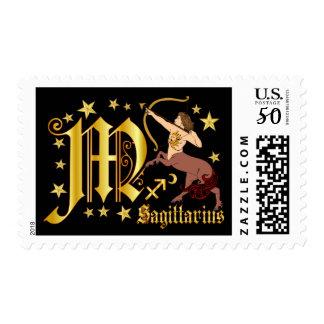 Zodiac-Sagittarius-Font-Design-1-M Postage