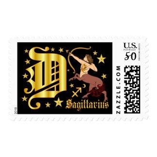 Zodiac-Sagittarius-Font-Design-2-D Postage