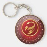"""""""Zodiac Scorpio"""" 2.25"""" Basic Button Keychain"""