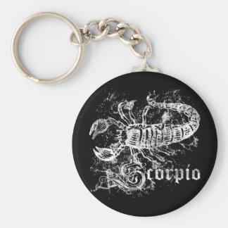 Zodiac Scorpio Basic Round Button Keychain