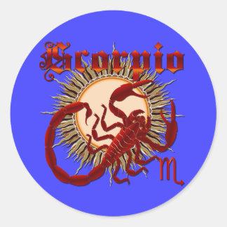 Zodiac Scorpio-Design-1 View Below Hints Classic Round Sticker
