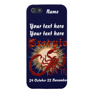 Zodiac Scorpio-Design-1 View Below Hints iPhone SE/5/5s Cover