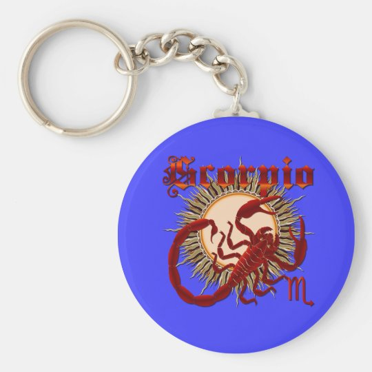 Zodiac Scorpio-Design-1 View Below Hints Keychain