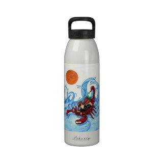 zodiac scorpio fairy water bottle