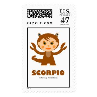 Zodiac Scorpio for Kids Postage
