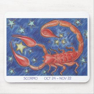 Zodiac Scorpio mousepad white border