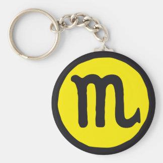 zodiac scorpion keychain