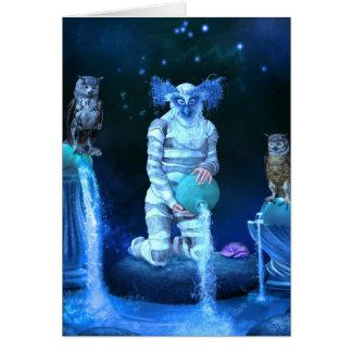 Zodiac Series: Aquarius Greeting/Note Card