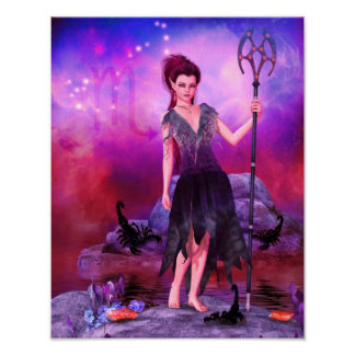 Zodiac Series: Scorpio Canvas/Poster Print
