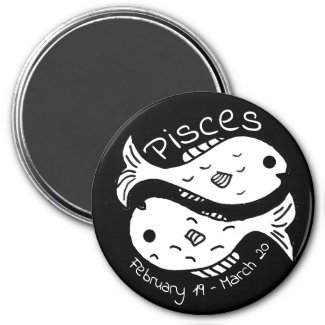 Zodiac sign and horoscope symbol fish for Pisces Magnet