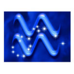 Zodiac sign Aquarius Postcard