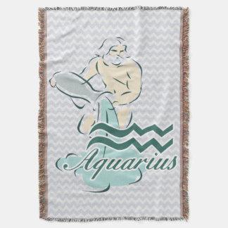 Zodiac Sign Aquarius Symbol Throw