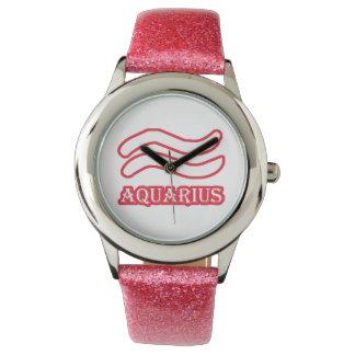 Zodiac Sign Aquarius Wrist Watches