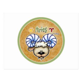 Zodiac Sign Aries - March & April Birthdays Postcard