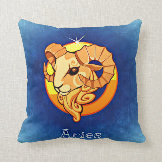 Zodiac sign Aries Throw Pillow